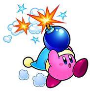 Bomb Kirby from Kirby Super Star Ultra