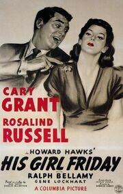 1940 - His Girl Friday Movie Poster