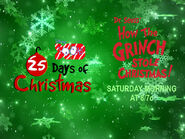 Disney XD Toons 25 Days Of Christmas How The Grinch Stole Christmas Promo 2018