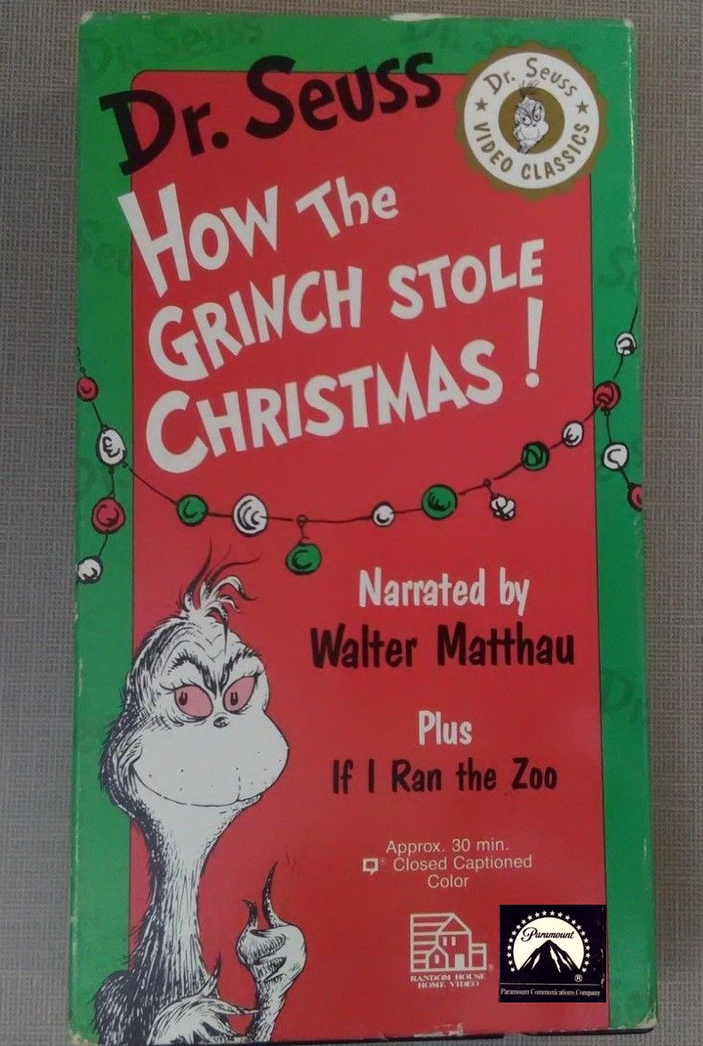 Opening To Dr Seuss Video Classics How The Grinch Stole
