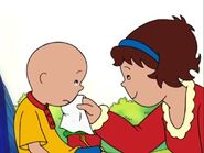Caillou is sad when Leo and Clementine doesn't want to play with him anymore
