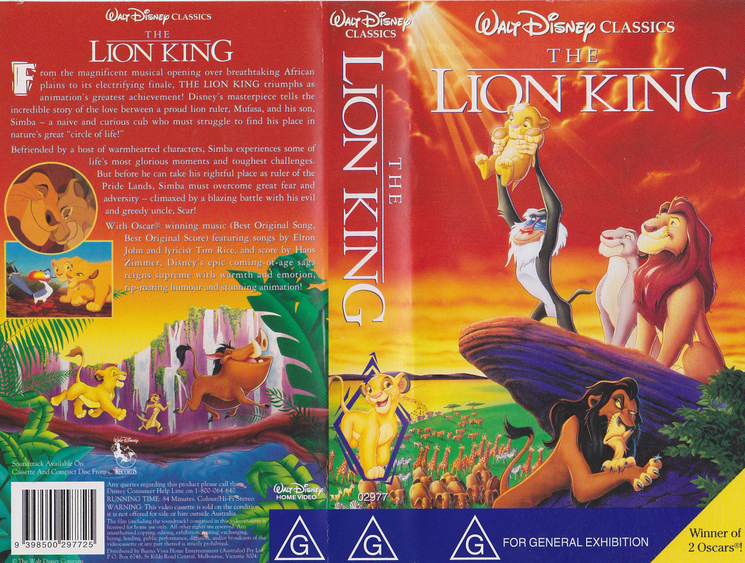 opening to the lion king 1995 vhs  australia version