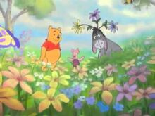 Winnie the pooh springtime with roo trailer