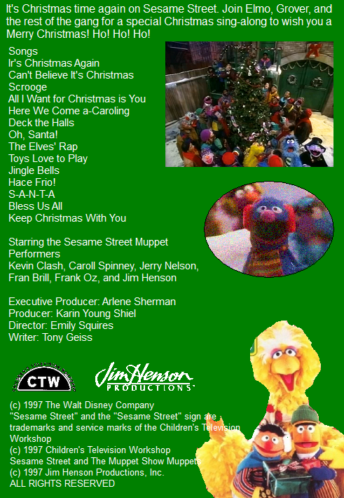 elmo saves christmas back coverpng - Sesame Street Elmo Saves Christmas