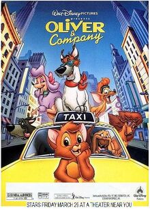 Oliver And Company 1996 Re-Release Poster