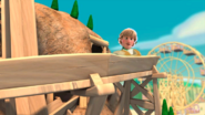 Kristoff in the log ride