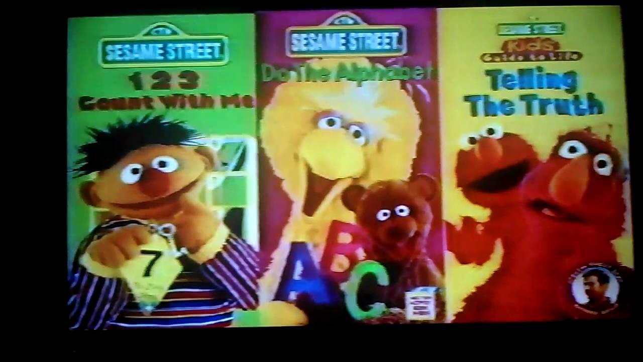 Sesame Street Vhs 1997   Asdela