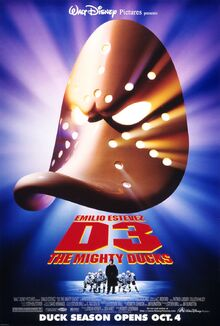 1996 - D3 - The Mighty Ducks Movie Poster