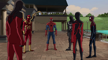 UltimateSpiderMan - 4x25 - Graduation Day, Part One - Scarlet Spider, Iron Spider, Spider-Man, Agent Venom, Ultimate Spider-Woman and Miles Morales