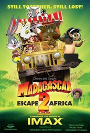 Madagascar Escape 2 Africa (Disney and Sega Animal Style) Poster