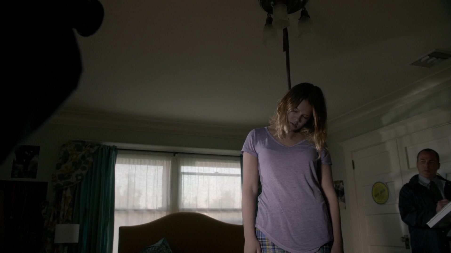 Rachel S Lifeless Is Removed From The Balcony And Her Neck Now Wrapped With Rope Hanging Ceiling Fan In Bedroom For