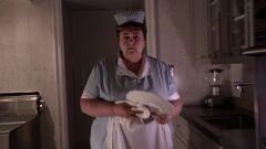 Agatha Bean en su cocina