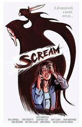 Scream Cartoon Poster