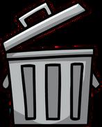 Open Garbage Bin