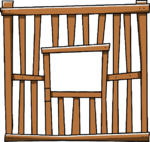 Empty Large Wooden Cage