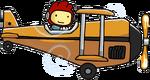 Biplane Using