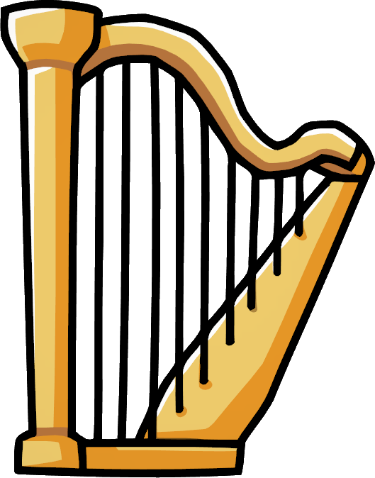 image harp png scribblenauts wiki fandom powered by wikia rh scribblenauts wikia com harp clipart black and white harp clip art free