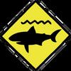 Shark Caution Sign