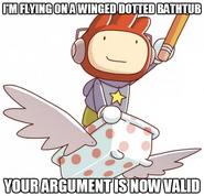 Winged Dotted Bathtub Meme