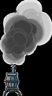 Smoking Potbelly Stove