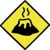 Lava Caution Sign