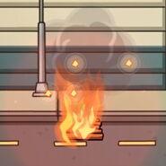 Gel on fire