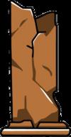 Large Cracked Rock Column