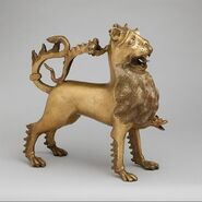 Aquamanile in the Form of a Lion MET DP117252
