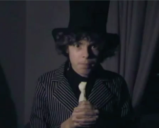 Nick Barbera as the Ghost Host in Episode 1 Season 1 of The Haunted Mansion Show