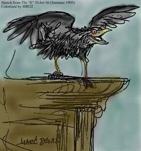 Raven on Cornice