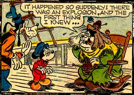 Pete as Old Woman in Clipper Ship Caper
