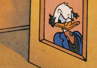 Scrooge McDuck Portrait in Donald Duck TV Star
