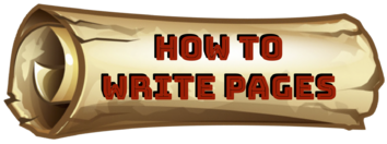 Scrolls of Scrooge: How to Write Pages
