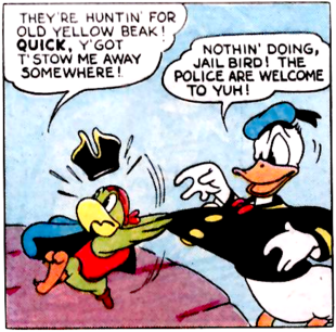 Donald Duck Rejects Yellow Beak