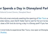 Darth Vader Spends a Day in Disneyland Park
