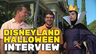 Halloween Time 2016 interview in front of Haunted Mansion Holiday at Disneyland