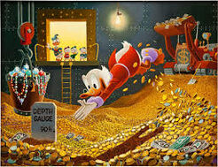 Swimming in Money Carl Barks painting
