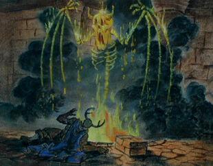 Black cauldron artwork color 12