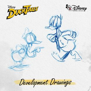 More Development Drawings of 2017 Donald Duck