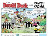 Donald Duck meets Princess Oona