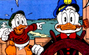 Scrooge and Pothole During Race