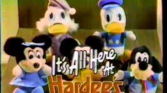 1984 Hardee's Disney Christmas TV Commercial