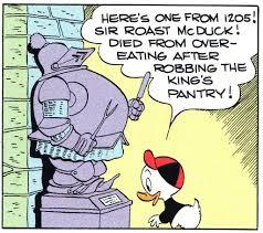 Roast McDuck armor Barks - The Old Castle's Secret