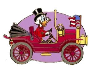 Scrooge's Old Car Pin