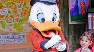 Scrooge McDuck meet and greet at Donald's Dino-Bash! in Disney's Animal Kingdom