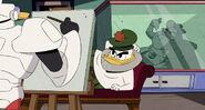 Waddle Duck paints Flintheart Glomgold