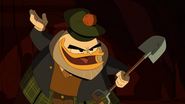 The Golden Lagoon of White Agony Plains Glomgold with shovel