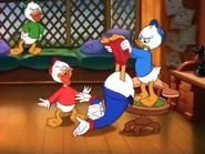 Dewey turns scrooge upsilde down