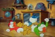 The boys throwing a tantrum in Scrooge's Last Adventure