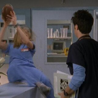 Elliot falls while catching a football, and even the characters laugh <span style=